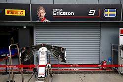 August 31, 2018 - Monza, Italy - Motorsports: FIA Formula One World Championship 2018, Grand Prix of Italy, .Garage of #9 Marcus Ericsson (SWE, Alfa Romeo Sauber F1 Team) (Credit Image: © Hoch Zwei via ZUMA Wire)