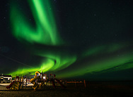 The first aurora borealis that can be seen again, starts at the end of August because the nights are increasingly dark.