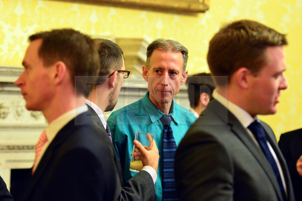 © Licensed to London News Pictures. 11/09/2013. London, UK Human rights campaigner Peter Tatchell.  The Deputy Prime Minister, Nick Clegg, hosts a reception at Admiralty House in Whitehall this evening, 11 September 2013, to celebrate the government's progress in equal marriage. From next year gay people will be able to get married. A number of high profile guests including openly supportive celebrities, campaigners, religious figures and charities were in attendance.<br /> The London Gay Men Chorus Ensemble performed at the event. . Photo credit : Stephen Simpson/LNP