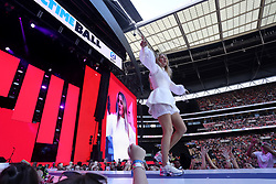 Ellie Goulding on stage during Capital's Summertime Ball. The world's biggest stars perform live for 80,000 Capital listeners at Wembley Stadium at the UK's biggest summer party. PRESS ASSOCIATION PHOTO. Picture date: Saturday June 8, 2019. Photo credit should read: Isabel Infantes/PA Wire