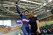 Women Keirin, joy Mathilde Gros (France), during the Track Cycling European Championships Glasgow 2018, at Sir Chris Hoy Velodrome, in Glasgow, Great Britain, Day 6, on August 7, 2018 - Photo luca Bettini / BettiniPhoto / ProSportsImages / DPPI<br /> - Restriction / Netherlands out, Belgium out, Spain out, Italy out -