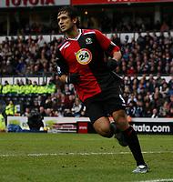 Photo: Steve Bond/Sportsbeat Images.<br /> Derby County v Blackburn Rovers. The FA Barclays Premiership. 30/12/2007. Roque Santa Cruz wheels away after scoring