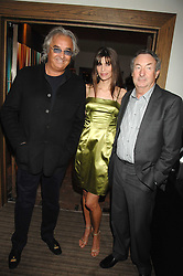 FLAVIO BRIATORE, LISA B and NICK MASON at a party to celebrate the publication of Lisa B's book 'Lifestyle Essentials' held at the Cook Book Cafe, Intercontinental Hotel, Park Lane London on 10th April 2008.<br />