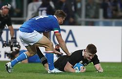 November 24, 2018 - Rome, Italy - Italy v New Zealand All Blacks - Rugby Cattolica Test Match.New Zealands Jordie Barrett scroes a try at Olimpico Stadium in Rome, Italy on November 24, 2018. (Credit Image: © Matteo Ciambelli/NurPhoto via ZUMA Press)