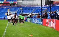 Members of the media assemble to watch Paris Saint-Germain train<br /> <br /> Photographer Kevin Barnes/CameraSport<br /> <br /> UEFA Women's Champions League Final - Pre match training session - Lyon Women v Paris Saint-Germain Women - Wednesday 31st May 2017 - Cardiff City Stadium<br />  <br /> World Copyright © 2017 CameraSport. All rights reserved. 43 Linden Ave. Countesthorpe. Leicester. England. LE8 5PG - Tel: +44 (0) 116 277 4147 - admin@camerasport.com - www.camerasport.com