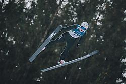 15.02.2020, Kulm, Bad Mitterndorf, AUT, FIS Ski Flug Weltcup, Kulm, Herren, im Bild Mackenzie Boyd-Clowes (CAN) // Mackenzie Boyd-Clowes of Canada during his Jump for the men's FIS Ski Flying World Cup at the Kulm in Bad Mitterndorf, Austria on 2020/02/15. EXPA Pictures © 2020, PhotoCredit: EXPA/ Dominik Angerer