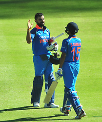 Cape Town-180207 Captain  of India cricket Vitrat Kohli  celebrates his 150 runs in a ODI game at Newlands against South Africa.photograph:Phando Jikelo/African News Agency(ANA)