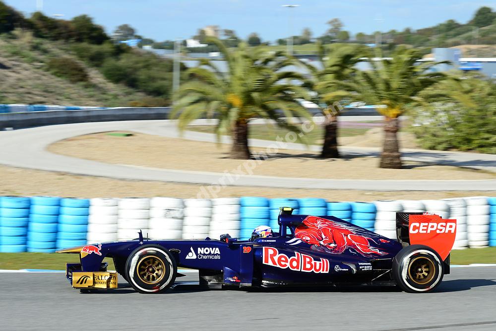 Daniel Ricciardo (Toro Rosso-Ferrari) during the test in Jerez in february 2013. Photo: Grand Prix Photo