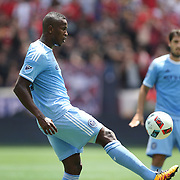 HARRISON, NEW JERSEY- JULY 24: Jefferson Mena #23 of New York City FC in action during the New York Red Bulls Vs New York City FC MLS regular season match at Red Bull Arena, Harrison, New Jersey on July 24, 2016 in Harrison, New Jersey. (Photo by Tim Clayton/Corbis via Getty Images)