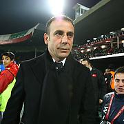 Turkey's coach Abdullah Avci during their a international friendly soccer match Turkey betwen Slovakia at Ataturk stadium in Bursa February 29, 2012. Photo by TURKPIX