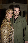 Davina Taylor and Danny Dyer. Celebrity Bingo at launch of  www.archers.com. Home House. 16 May 2002. © Copyright Photograph by Dafydd Jones 66 Stockwell Park Rd. London SW9 0DA Tel 020 7733 0108 www.dafjones.com