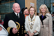 Galway launches 200 Gatherings ! Come home to Irelands Cultural Heart  with help of  Galway Harbour Master Captain Brian Sheridan Galway City Mayor Terry O Flaherty with Jonathon from The Gombeen Theatre Company and  Carmel Dooley Galway Sea Festival   at Aras An Contae. Picture Andrew Downes..