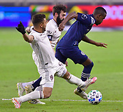 Sporting KC defeated the Colorado Rapids 4-0 in a Major League Soccer game played at Children's Mercy Park in Kansas City, KS on Saturday October 24, 2020. <br /> Photo by TIM VIZER