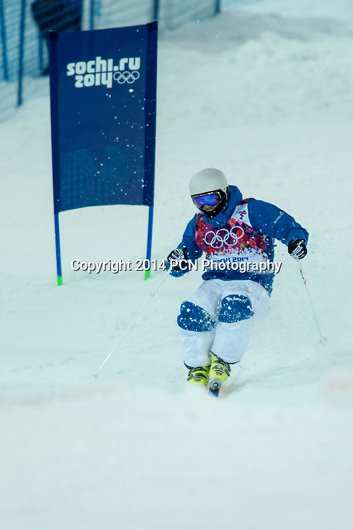 Anthony Benna (FRA) freestyle skier competing in Men's Moguls at the Olympic Winter Games, Sochi 2014