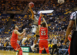 Feb 26, 2018; Morgantown, WV, USA; West Virginia Mountaineers guard Jevon Carter (2) shoots in the lane during the second half against the Texas Tech Red Raiders at WVU Coliseum. Mandatory Credit: Ben Queen-USA TODAY Sports