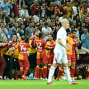 Galatasaray's Selcuk Inan (C) celebrate his goal with team mate during their Turkish Super League soccer match Galatasaray between Sivasspor at the AliSamiYen Spor Kompleksi TT Arena at Seyrantepe in Istanbul Turkey on Sunday 05 May 2013. Photo by TURKPIX