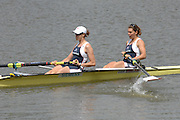 Amsterdam, HOLLAND, GBR W2- Bow Natasha HOWARD and Alison KNOWLES, at the 2007 FISA World Cup Rd 2 at the Bosbaan Regatta Rowing Course. 23.06.2007[Mandatory Credit: Peter Spurrier/Intersport-images]...... , Rowing Course: Bosbaan Rowing Course, Amsterdam, NETHERLANDS
