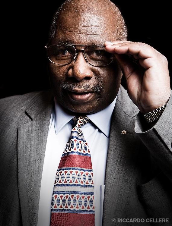 Portrait photography. Oliver Jones, jazz pianist. 2008.