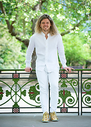 Wandsworth Arts Fringe launch <br /> At the Bandstand in Battersea Park, London, Great Britain <br /> 2nd May 2019 <br /> <br /> Former Neighbours actor Grant Busé who played Jackson Bryce in the Australian soap launches the Wandsworth Arts Fringe a borough wide arts festival that runs from May 3 to 19 2019 <br /> <br /> Grant Busé performs in Touché Busé at Putney Arches - part of the Wandsworth Fringe. <br /> <br /> Photograph by Elliott Franks