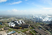 Nederland, Noord-Holland, IJmuiden , 09-04-2014; IJmuiden Steel Works van Tata Steel. Oxystaalfabriek en walserijen.<br /> IJmuiden Steel Works, part of Tata Steel. <br /> luchtfoto (toeslag op standard tarieven);<br /> aerial photo (additional fee required);<br /> copyright foto/photo Siebe Swart