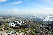Nederland, Noord-Holland, IJmuiden , 09-04-2014; IJmuiden Steel Works van Tata Steel. Oxystaalfabriek en walserijen.<br /> IJmuiden Steel Works, part of Tata Steel. <br /> luchtfoto (toeslag op standard tarieven);<br /> aerial photo (additional fee required);<br /> copyright foto/photo Siebe Swart