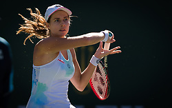 March 8, 2019 - Indian Wells, USA - Stefanie Voegele of Switzerland in action during her second-round match at the 2019 BNP Paribas Open WTA Premier Mandatory tennis tournament (Credit Image: © AFP7 via ZUMA Wire)