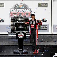 February 26, 2017 - Daytona Beach, Florida, USA: Kurt Busch (41) takes photos in victory lane after winning the Daytona 500 at Daytona International Speedway in Daytona Beach, Florida.