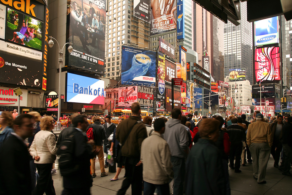 Times Square in New York.