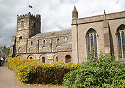 Historic Priory Church of St Mary in town of Chepstow, Monmouthshire, Wales, UK