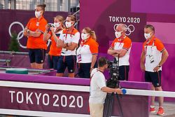 Team Netherlands, Gal Edward, NED, Werner Nicole, NED, Van Silfhout Alex, NED<br /> Olympic Games Tokyo 2021<br /> © Hippo Foto - Dirk Caremans<br /> 28/07/2021