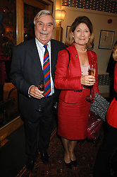 Writer LESLIE THOMAS and his wife DIANA at a tribute lunch for Elaine Paige hosted by the Lady Taverners at The Dorchester, Park Lane, London on 13th November 2007.<br />