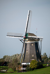 Historic windmill at Leidschendam  near The Hague in The Netherlands