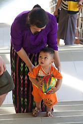 Woman & Toddler, Mount Popa