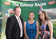 Michael Moloney Galway Race Course manger with Audrey Elliott, Ireland West Airport Knock, Sandra Ginnelly GAlway Races  at  the g Hotel for the launch of The Galway Races 2016 Summer Festival which runs from the 25th of July to the 31st of July in Galway City. Photo: Andrew Downes :
