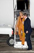 King Willem-Alexander and Queen Maxima arrive in Paris, 09-03-2016