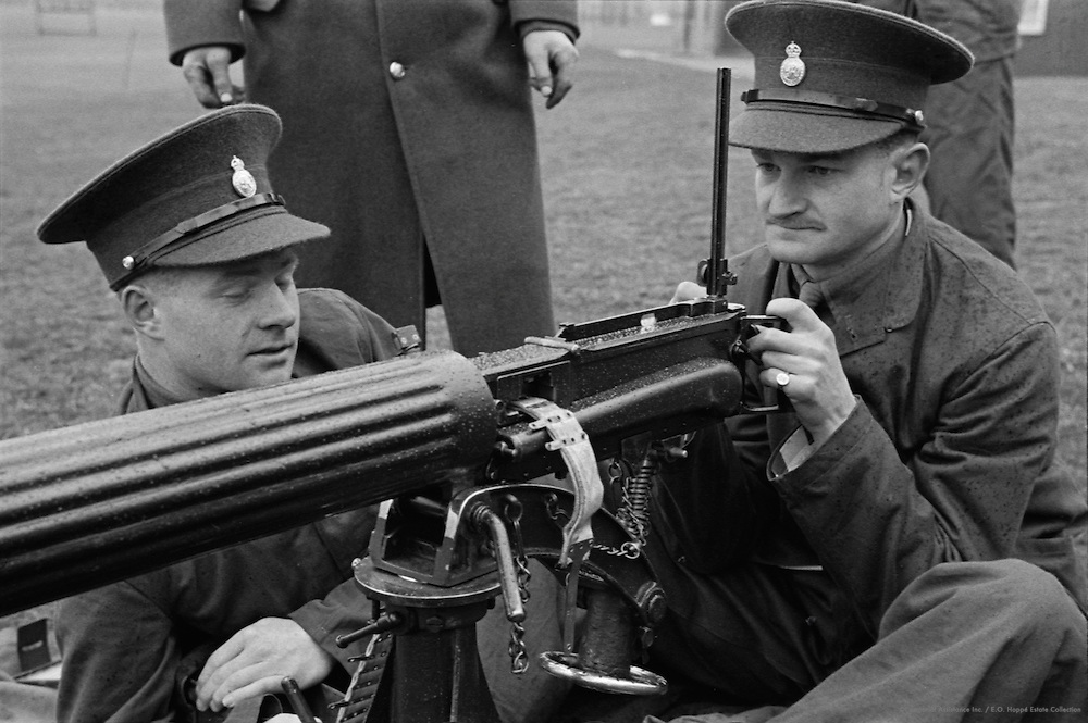 Machine Gun Drill, Royal Military College, Sandhurst, England, 1932
