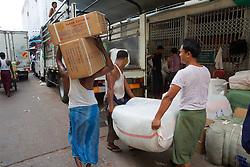 Loading Truck At Thein Gyi Market