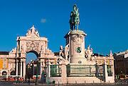 PORTUGAL, LISBON King Dom Jose I statue, Praca do Comercio