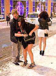 """© under license to London News Pictures. 19/12/2010 Revellers out in full force and less than full dress in Manchester City Centre on Friday night (17/12/2010) on what is commonly known as """"Mad Friday"""". Photo credit should read:Joel Goodman/LNP"""