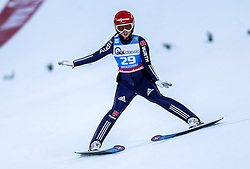 30.01.2016, Normal Hill Indiviual, Oberstdorf, GER, FIS Weltcup Ski Sprung Ladis, Bewerb, im Bild Juliane Seyfarth (GER) // Julina Seyfarth of Germany during her Competition Jump of FIS Ski Jumping World Cup Ladis at the Normal Hill Indiviual, Oberstdorf, Germany on 2016/01/30. EXPA Pictures © 2016, PhotoCredit: EXPA/ Peter Rinderer