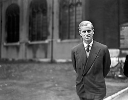 File photo dated 17/10/47 of the then Prince Philip of Greece, a month before his wedding to Princess Elizabeth. He was the Queen's husband and the royal family's patriarch, but what will the Duke of Edinburgh be remembered for? Issue date: Friday April 4, 2021.