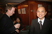 IAN R. WEBB AND JIMMY CHOO, Sir Peter Blake and Poppy De Villeneuve host a party with University of the Arts London at the Arts Club, Dover Street, London. 20 APRIL 2006<br />ONE TIME USE ONLY - DO NOT ARCHIVE  © Copyright Photograph by Dafydd Jones 66 Stockwell Park Rd. London SW9 0DA Tel 020 7733 0108 www.dafjones.com