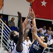 Anadolu Efes's Cenk AKYOL (R) during their Turkey Cup Qualifying basketball first match Anadolu Efes between Turk Telekom at Aliaga Arena in Izmir, Turkey, Sunday, October 9, 2011. Photo by TURKPIX