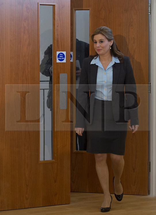 © Licensed to London News Pictures. 07/03/2015. <br /> LONDON, UK. Conservative MP for Harrow, Hannah David arrives to a room to welcome British Prime Minister, David Cameron who delivers a speech to mark two months until the General Election today, London, Saturday 07 March 2015. Photo credit : Hannah McKay/LNP