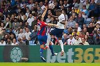 Football - 2021/2022  Premier League - Crystal Palace vs Tottenham Hotspur - Selhurst Park  - Saturday 11th September 2021.<br /> <br /> Emerson (Tottenham Hotspur) and James McArthur (Crystal Palace) rise for the ball at Selhurst Park.<br /> <br /> COLORSPORT/DANIEL BEARHAM