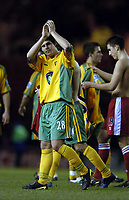Fotball<br /> Premier League 2004/05<br /> Middlesbrough v Norwich<br /> 28. desember 2004<br /> Foto: Digitalsport<br /> NORWAY ONLY<br /> Norwich's Danny Crow applauds the fans at the end of the game