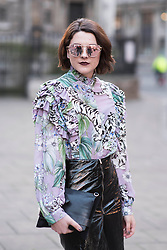 Charlene Catteeuw during London Fashion Week Autumn/Winter 2017 in London.  Picture date: Friday 17th February 2017. Photo credit should read: DavidJensen/EMPICS Entertainment