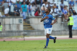August 19, 2018 - Lisbon, Portugal - Belenenses' forward Fredy of Angola celebrates after scoring a goal during the Portuguese League football match Belenenses vs FC Porto at the Jamor stadium in Lisbon on August 19, 2018. (Credit Image: © Pedro Fiuza via ZUMA Wire)