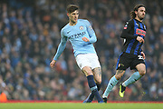 5 John Stones for Manchester City and Rotherham United midfielder Ryan Williams (23) during the The FA Cup 3rd round match between Manchester City and Rotherham United at the Etihad Stadium, Manchester, England on 6 January 2019.