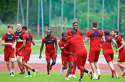 ROTTACH-EGERN, GERMANY - Friday, July 28, 2017: Liverpool's Georginio Wijnaldum and Daniel Sturridge during a training session at FC Rottach-Egern on day three of the preseason training camp in Germany. (Pic by David Rawcliffe/Propaganda)
